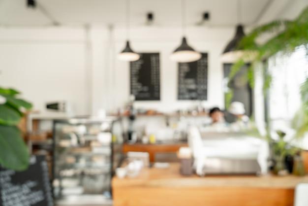 Abstraktes unschärfecafé oder café