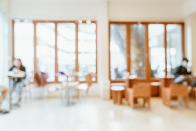 Abstraktes unschärfecafé und restaurant für hintergrund