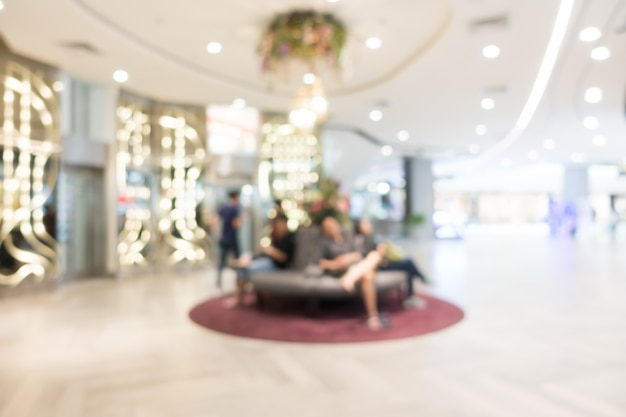 Abstraktes unschärfen-einkaufszentrum und einzelhandelsgeschäft