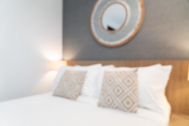 Abstraktes verschwommenes schönes luxushotelschlafzimmerinterieur