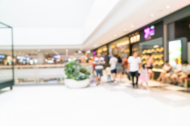 Abstraktes verwischendes einkaufszentrum oder kaufhausinnenraum für hintergrund