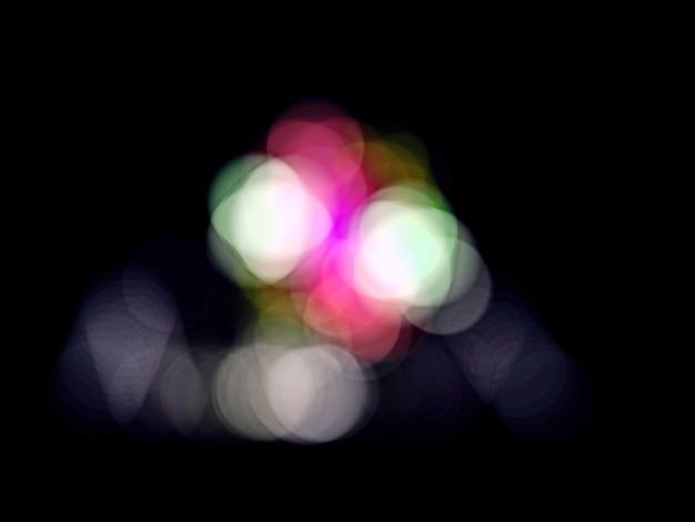Abstraktes weiches bokeh auf dunklem farbhintergrund.