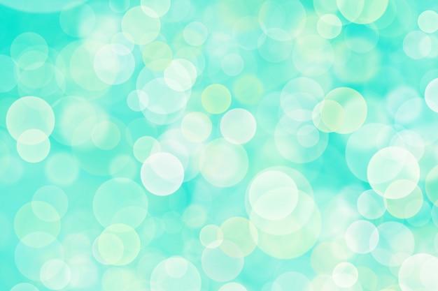 Abstraktes weißes bokeh, himmelblaue hintergrundfarbe