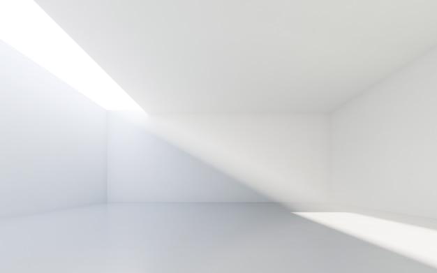 Abstraktes weißes interieur. leerer raum mit weißen wänden.