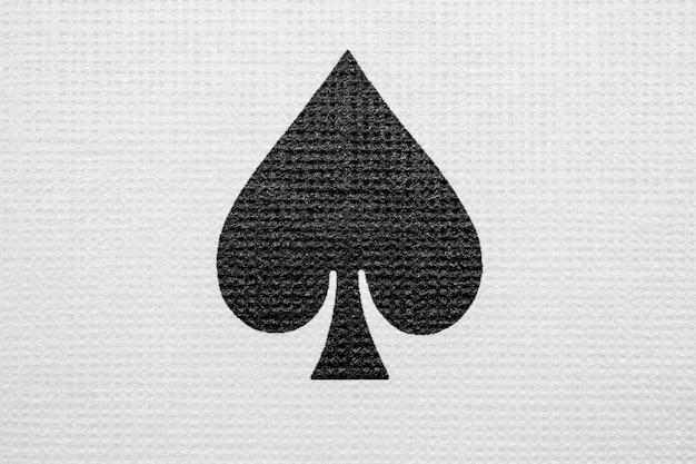 Ace of clubs detail makrofotografie. pokerspielkarten