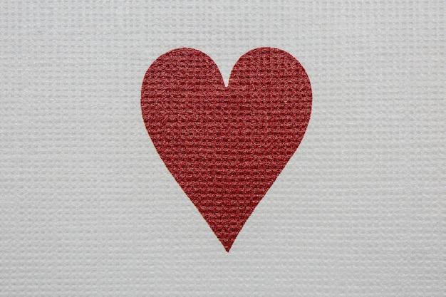 Ace of hearts detail. poker casino spielkarten