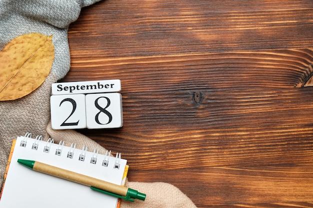 Achtundzwanzigster tag des herbstmonats kalender september
