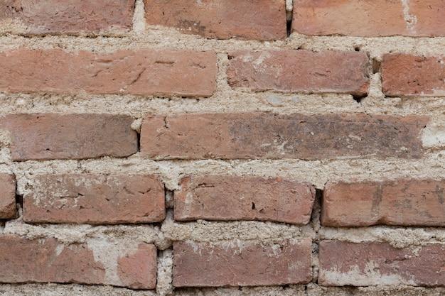 Acient ziegelmauer. grunge backsteinmauerhintergrund. hintergrund der alten weinlesebacksteinmauer