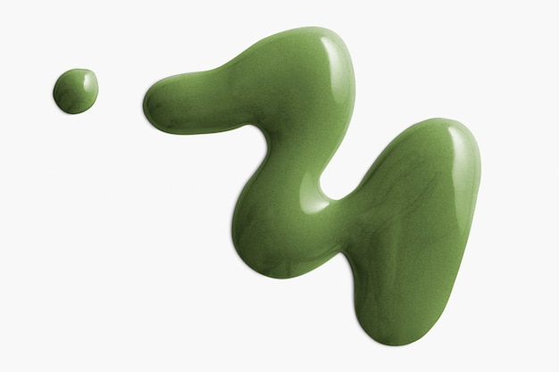 Acrylfarbe tropfen in grün
