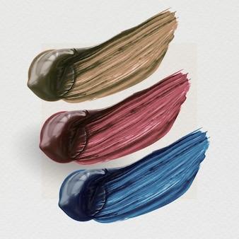 Acrylpinsel-strichprobe