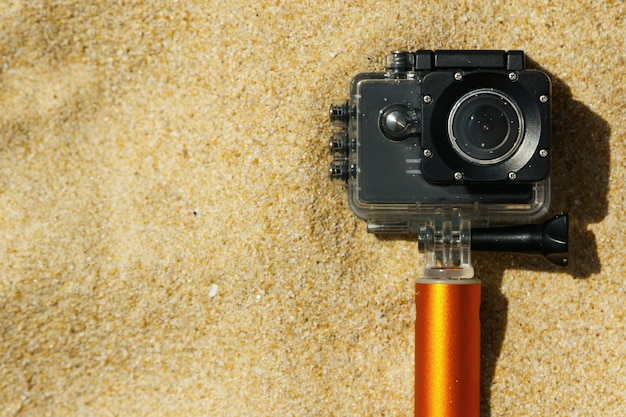 Action-kamera am strand