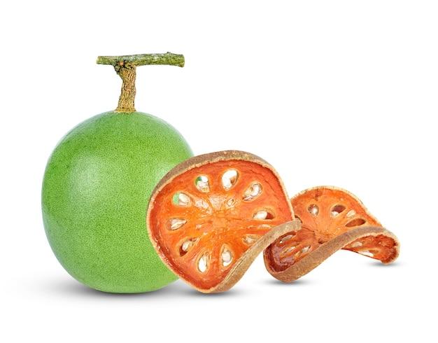 Aegle marmelos und trockene bael-frucht