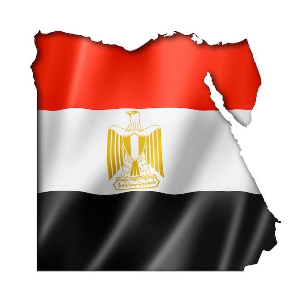 Ägyptische flagge karte