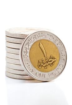 Ägyptische pfund-münzen