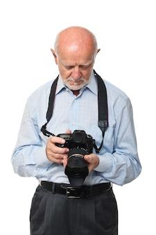 Älterer fotograf