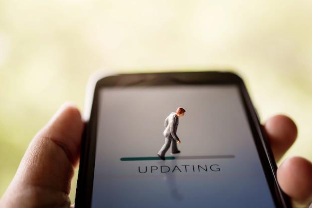 Ändern sie für neue herausforderung im leben oder verbessern sie technologie-konzept
