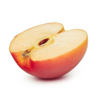 Äpfel auf einem weißen hintergrund