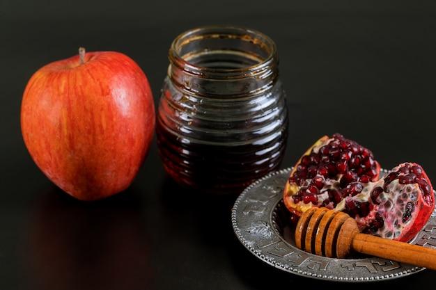 Äpfel, granatapfel und honig für rosch haschana