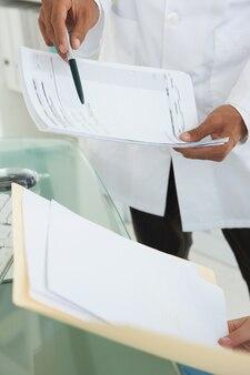 Ärzte vergleichen arbeitsnotizen