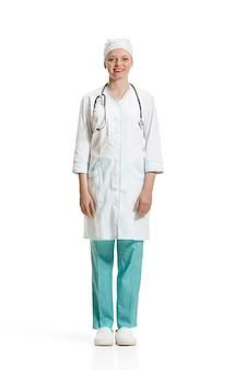 Ärztin isoliert. gesundheitskonzept