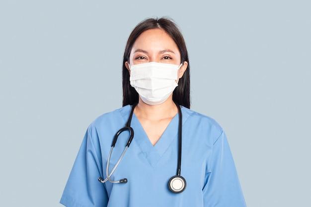 Ärztin mit einem stethoskop-porträt