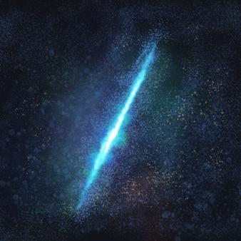 Ästhetische galaxie in schwarzem hintergrund