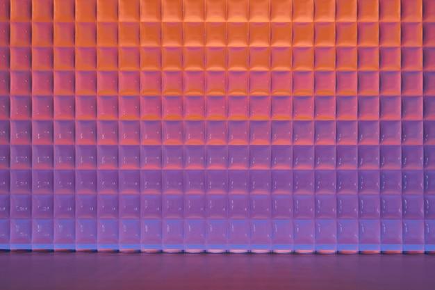 Ästhetische produktkulisse mit gemustertem glas