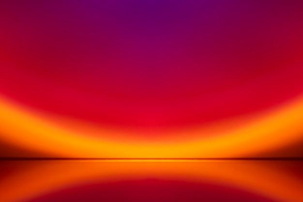 Ästhetischer hintergrund mit gradienten-sonnenuntergang-projektorlampe