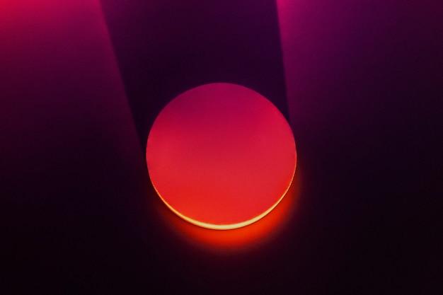 Ästhetischer hintergrund mit licht-sonnenuntergang-projektorlampe