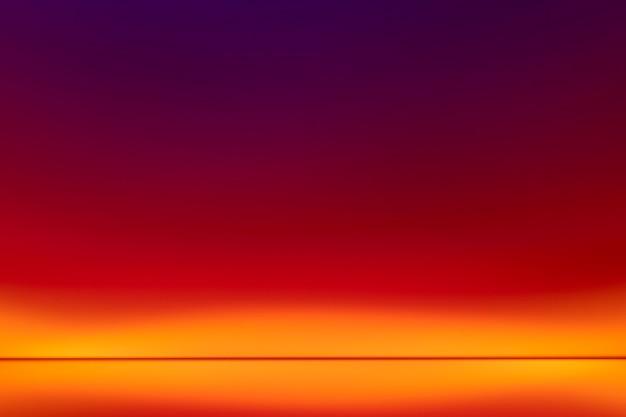 Ästhetischer hintergrund mit neon-led-lichteffekt mit farbverlauf