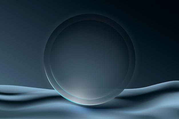 Ästhetischer kreisrahmenhintergrund im grauen futuristischen minimalistischen stil