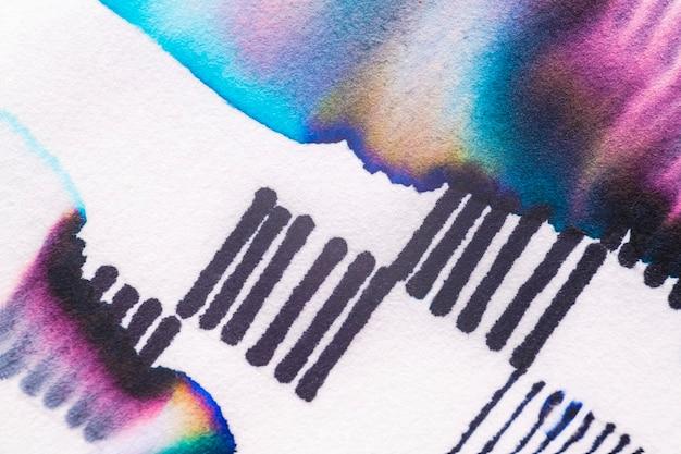 Ästhetisches abstraktes chromatographie-kunstelement