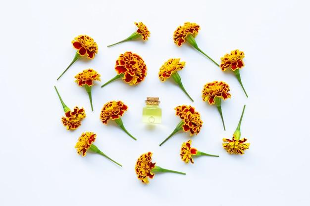 Ätherische öle der ringelblumenblume