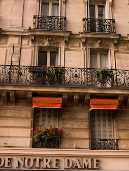 Äußeres des gebäudes in paris frankreich