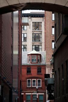Äußeres von gebäuden in boston, massachusetts, usa