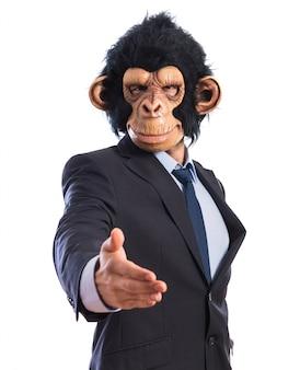 Affe mann macht einen deal