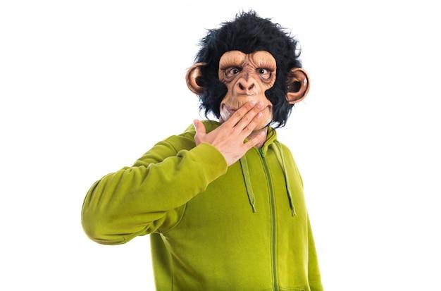 Affe mann überrascht geste