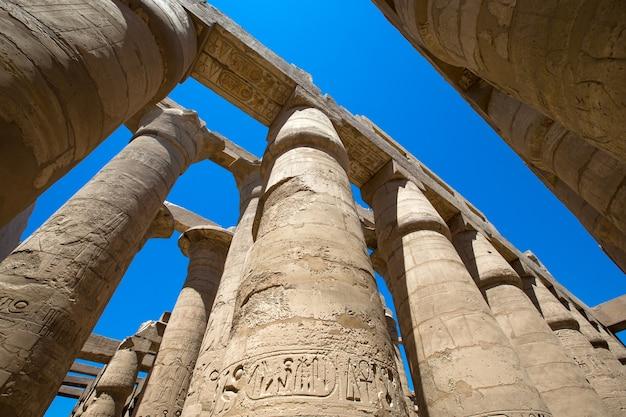 Afrika, ägypten, luxor, karnak-tempel