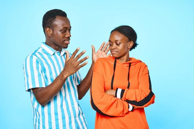 Afrikanisches paarporträt