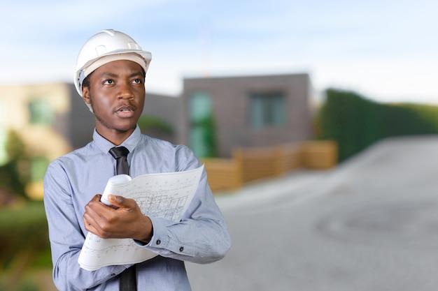 Afroamerikaner mann architekt