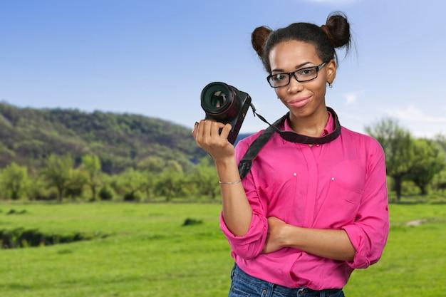 Afroamerikanischer fotograf