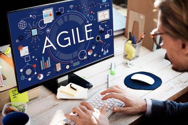 Agile agility nimble quick fast volant konzept