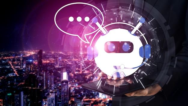 Ai chatbot intelligentes digitales anwendungskonzept für den kundenservice.