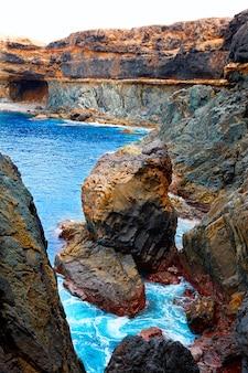 Ajuy caleta negra strand in fuerteventura