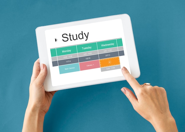 Akademischer stundenplan für das klassenzimmerstudium