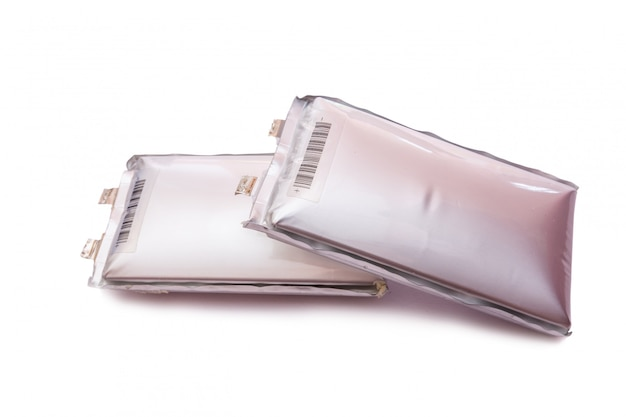 Akku für elektroroller in weißem hintergrund verschlechterung der batterie.