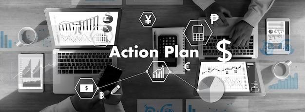 Aktionsplan strategie vision planung aktionsplan strategie vision planungsarbeit aktion geschäftsmann