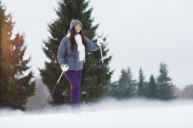 Aktiver skifahrer
