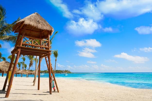 Akumal beach baywatck tower riviera maya