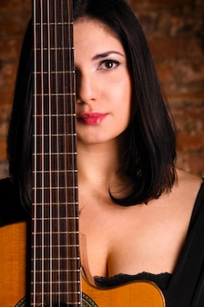 Akustischer gitarrist